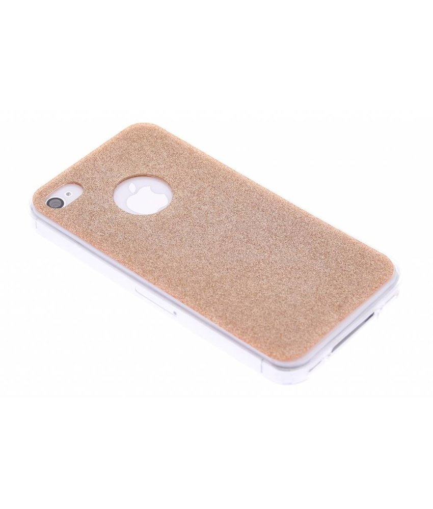 Brons glitter TPU siliconen hoesje iPhone 4 / 4s