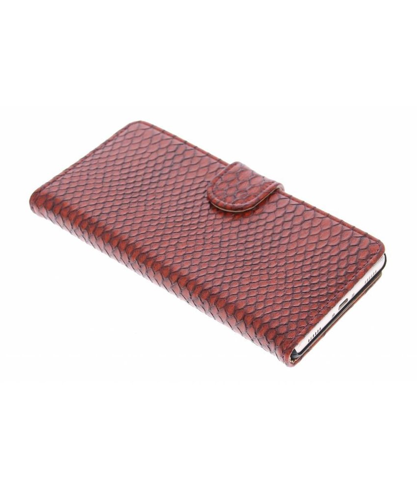 Rood slangen booktype hoes Huawei P8