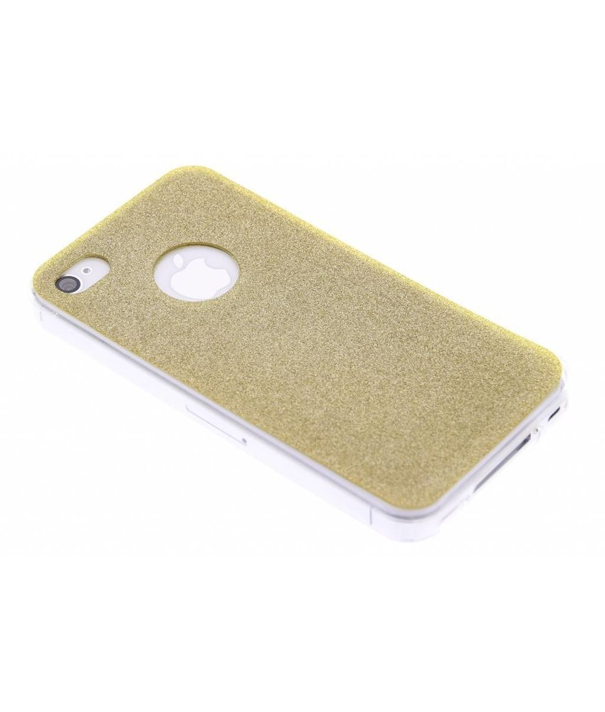 Goud glitter TPU siliconen hoesje iPhone 4 / 4s