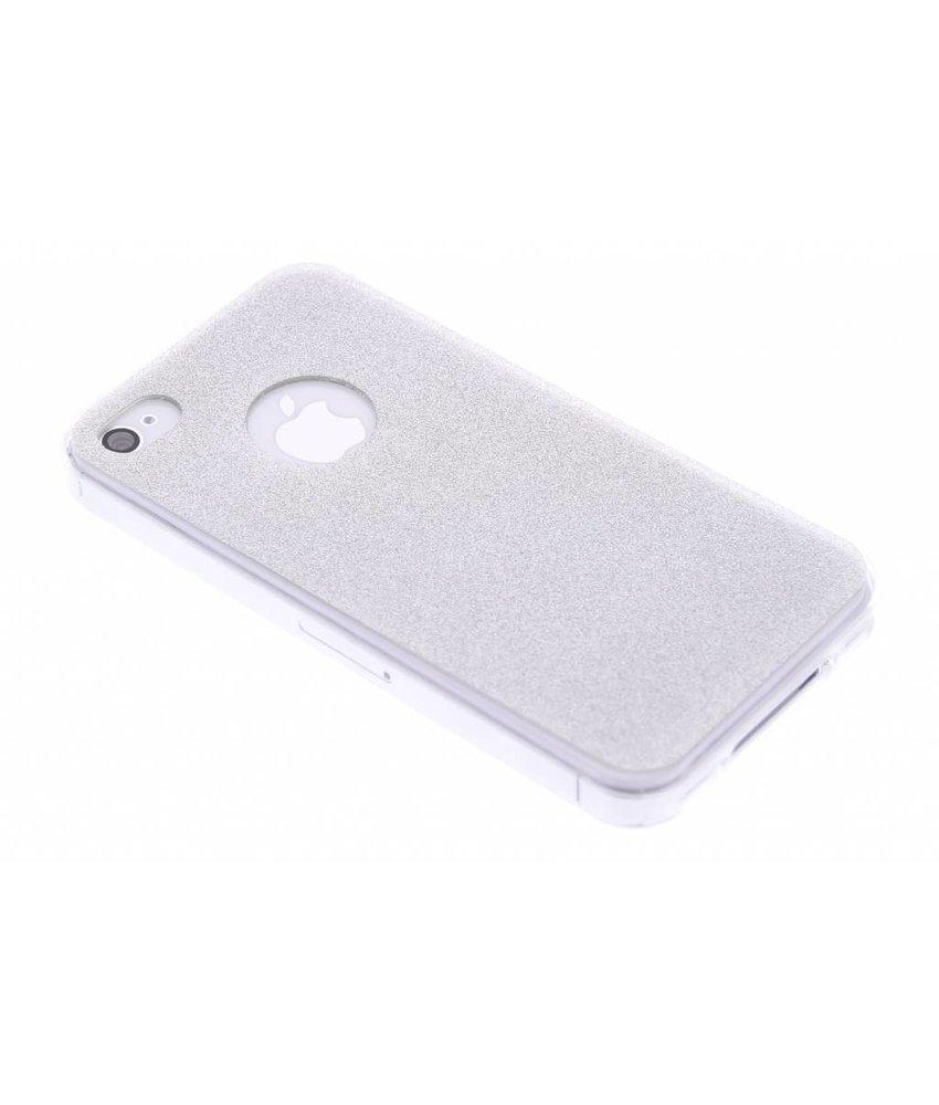 Zilver glitter TPU siliconen hoesje iPhone 4 / 4s