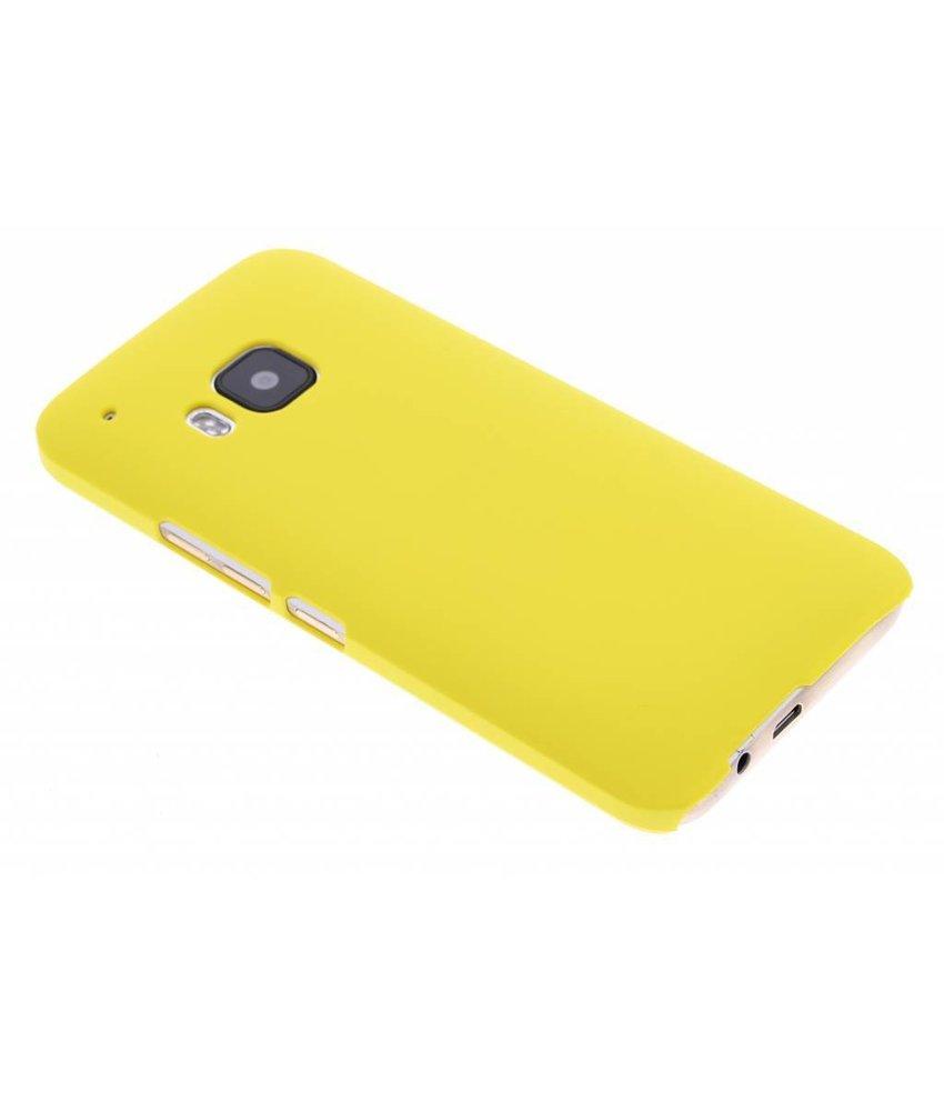 Geel effen hardcase hoesje HTC One M9
