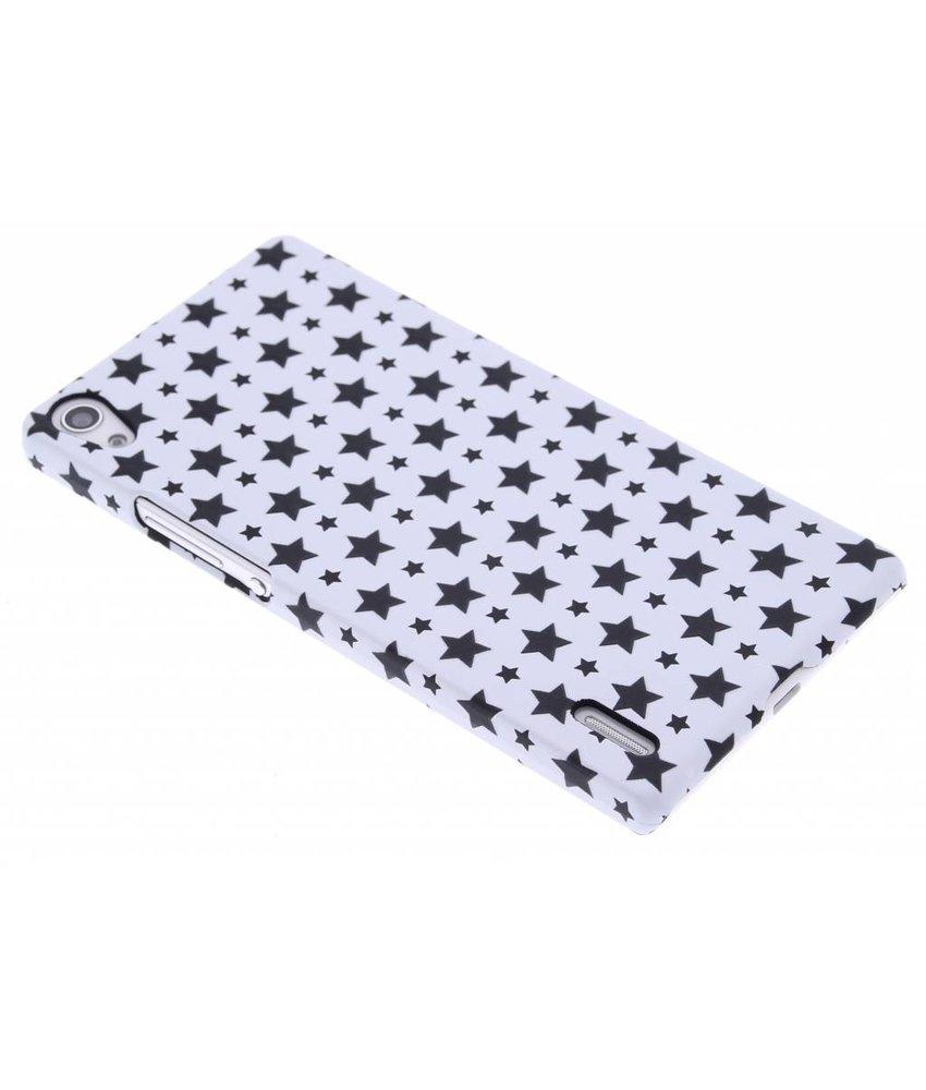 Wit sterren design hardcase hoesje Huawei Ascend P7