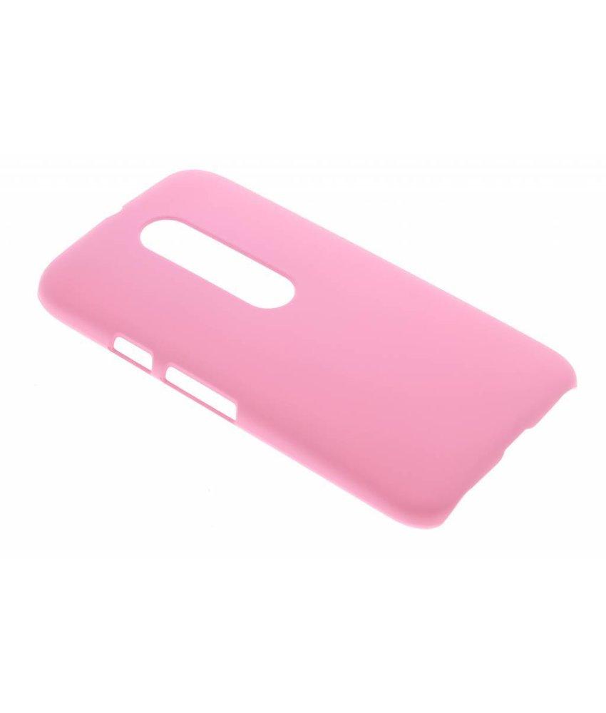 Roze effen hardcase hoesje Motorola Moto G 3rd Gen