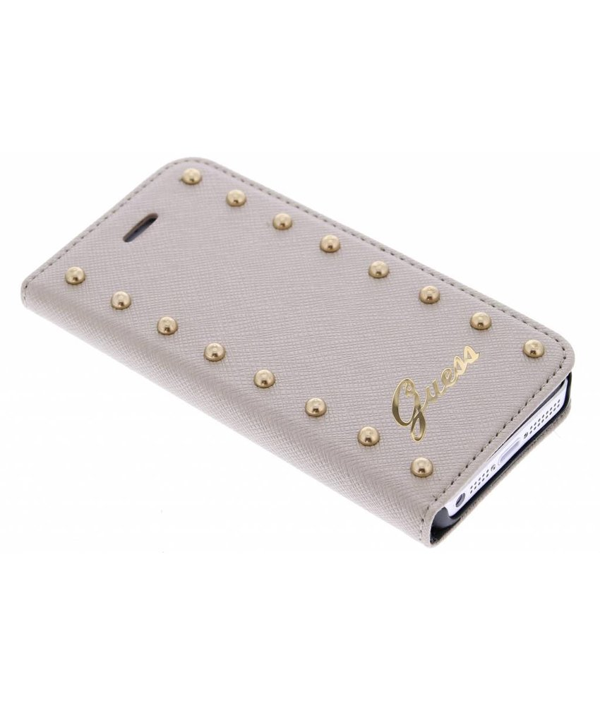 Guess Studded booktype hoes iPhone 5 / 5s / SE - Goud