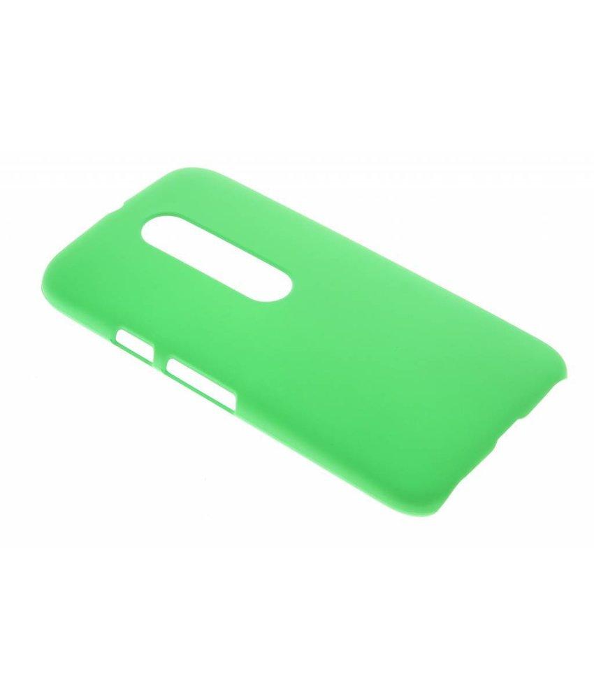 Groen effen hardcase hoesje Motorola Moto G 3rd Gen