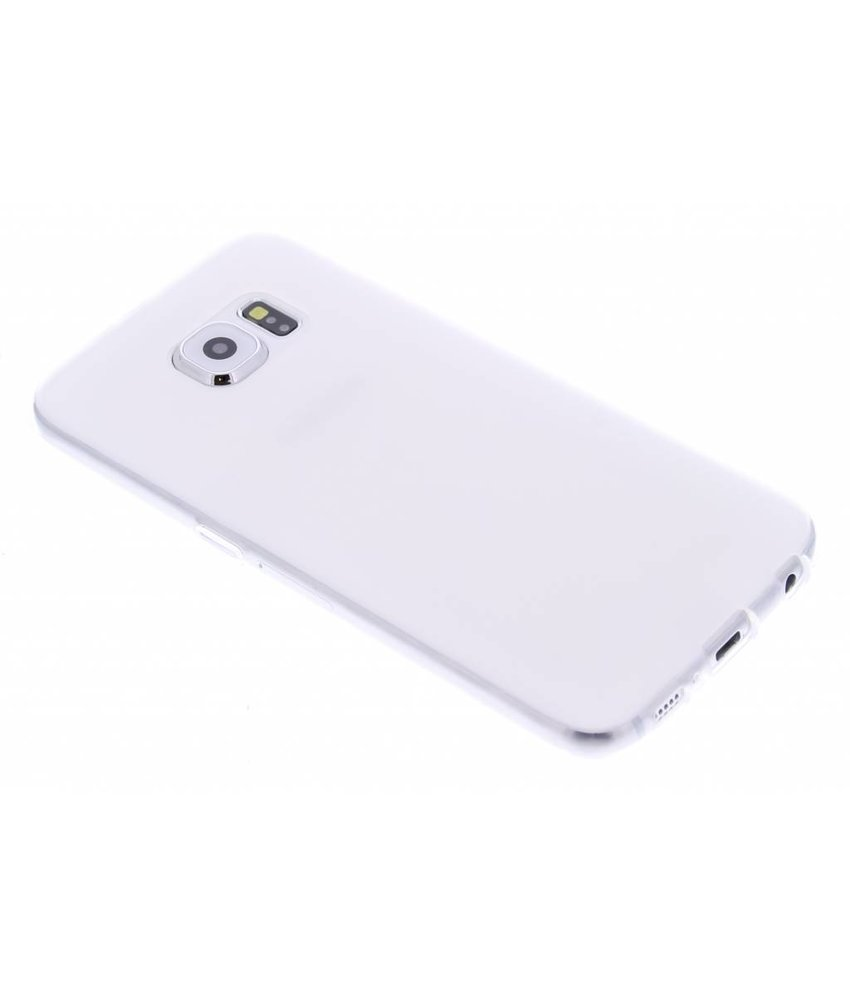 Wit hard siliconen hoesje Samsung Galaxy S6