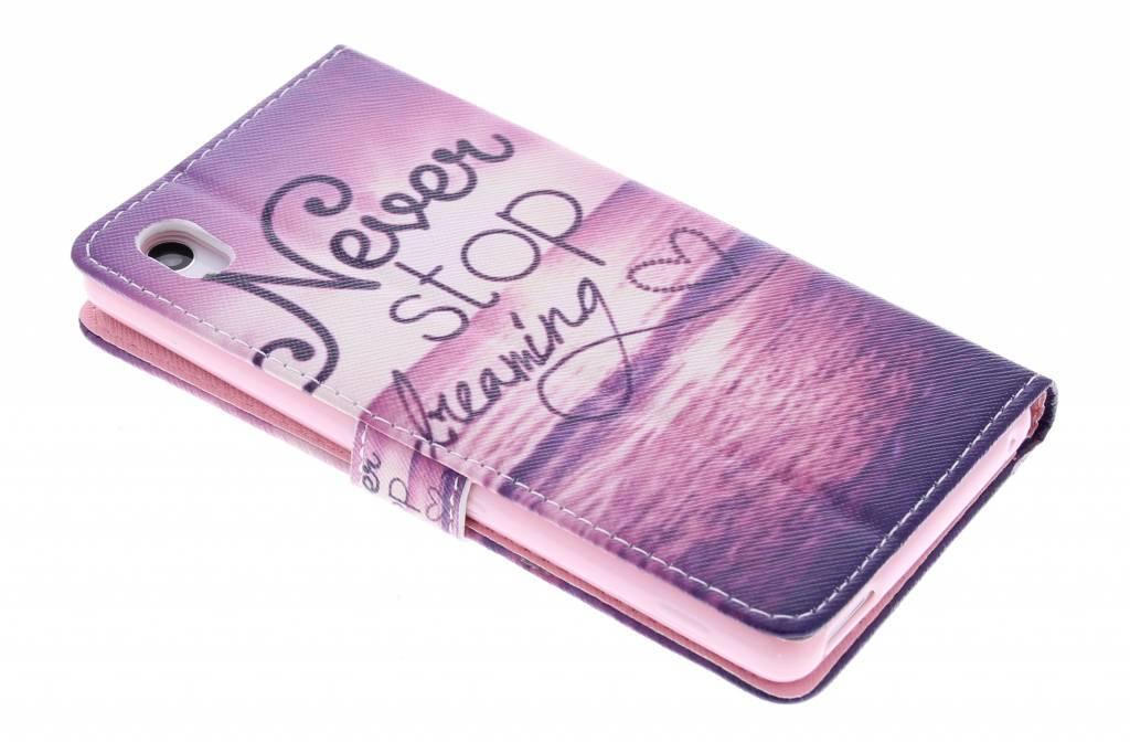 Je Peux Le Faire Tpu Design Booktype Houes Voor De Sony Xperia M4 Aqua bOACRUALgu