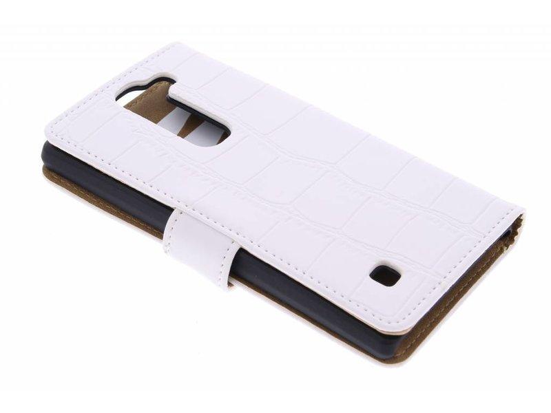 Witte krokodillen booktype hoes voor de LG Magna / G4c