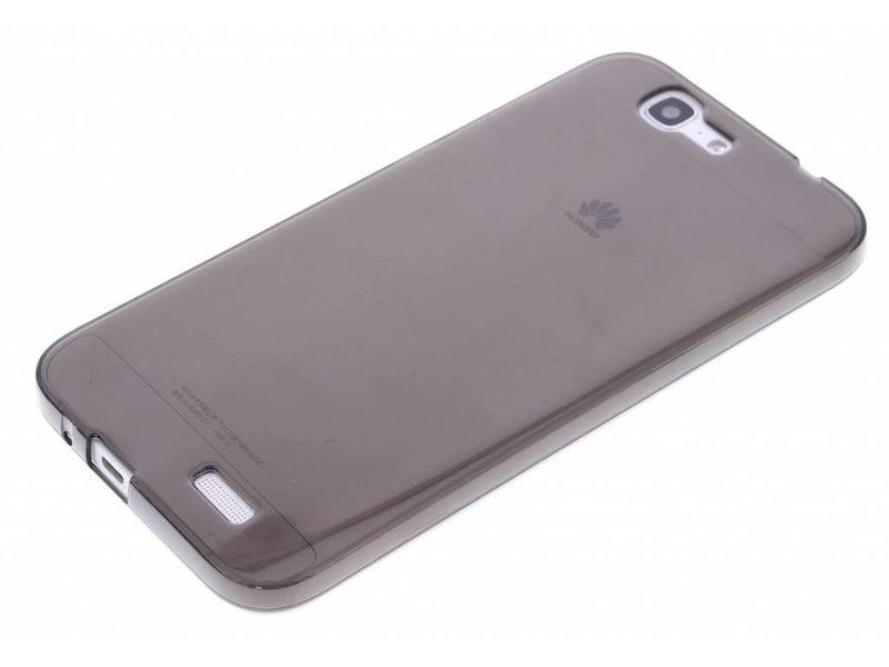 Cas De Gel Gris Transparent Pour Huawei Ascend G7 HdOtY