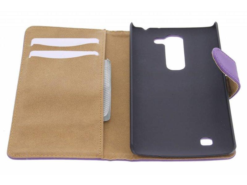 Paarse effen booktype hoes voor de LG Magna / G4c