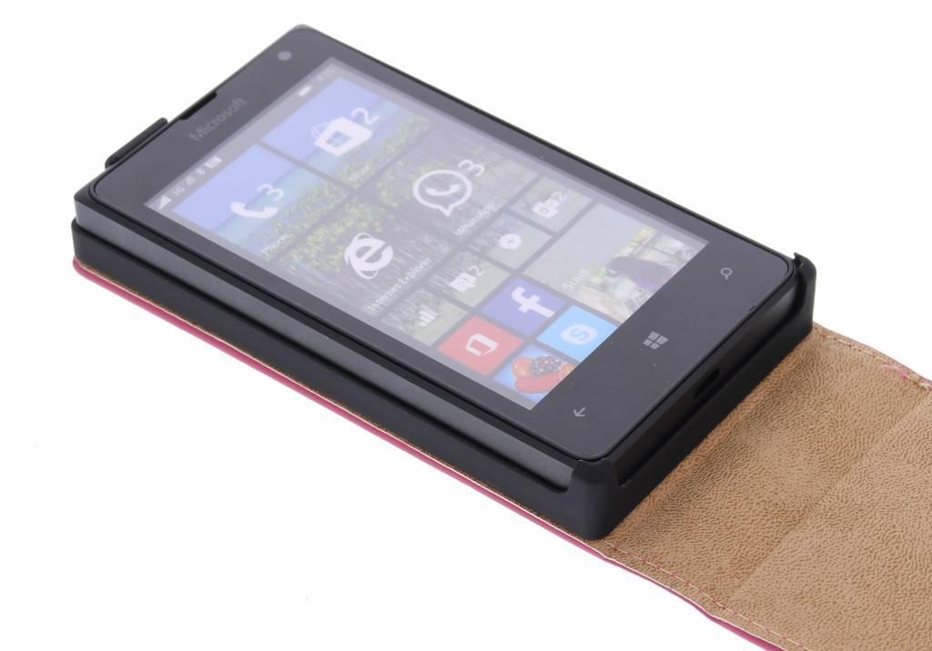 Flip Cas De Luxe Pour Microsoft Lumia 532 - Fuchsia mVE6SQUob