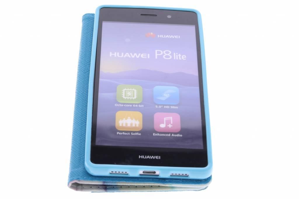 Conception Guimauve Cas Booktype Tpu Pour Huawei Lite P8 neP1vqt