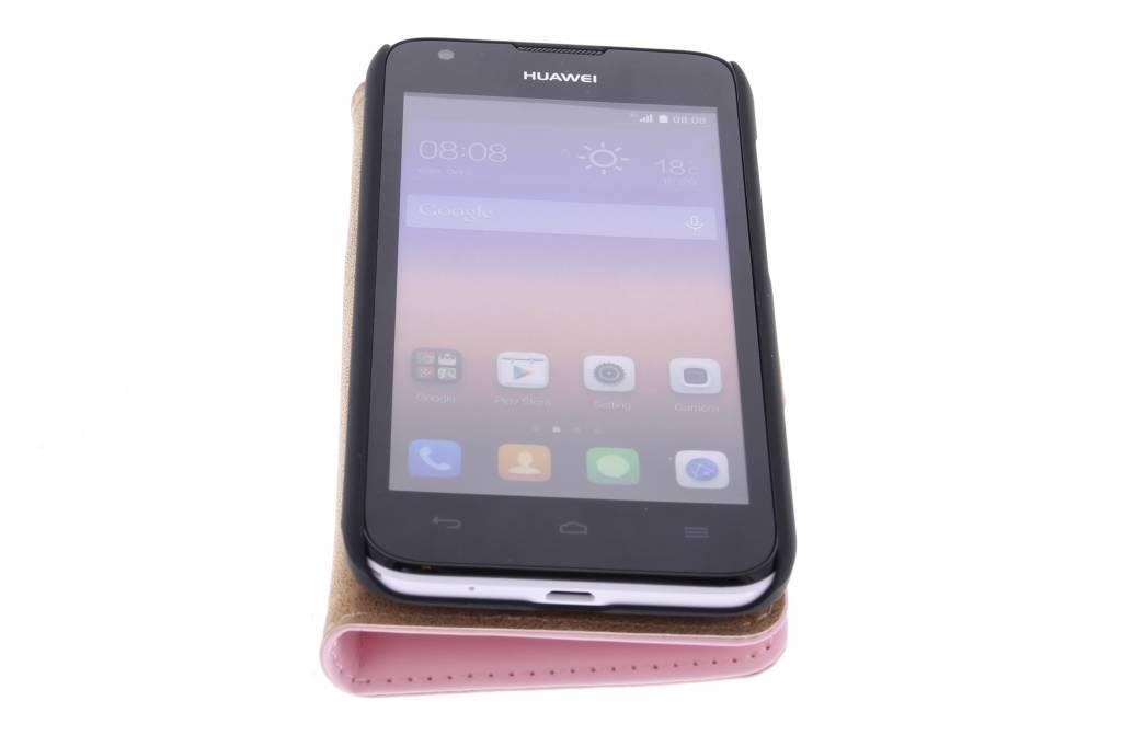 Case Livre De Luxe Pour Huawei Ascend Y550 - Rose Poudre Jmo9E