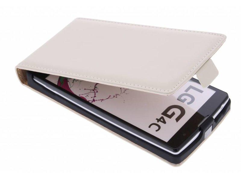 Selencia Luxe Flipcase voor de LG Magna / G4c - Gebroken wit