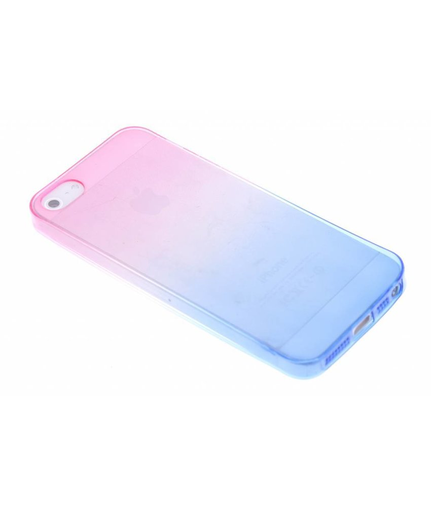 Tweekleurig TPU siliconen hoesje iPhone 5 / 5s / SE