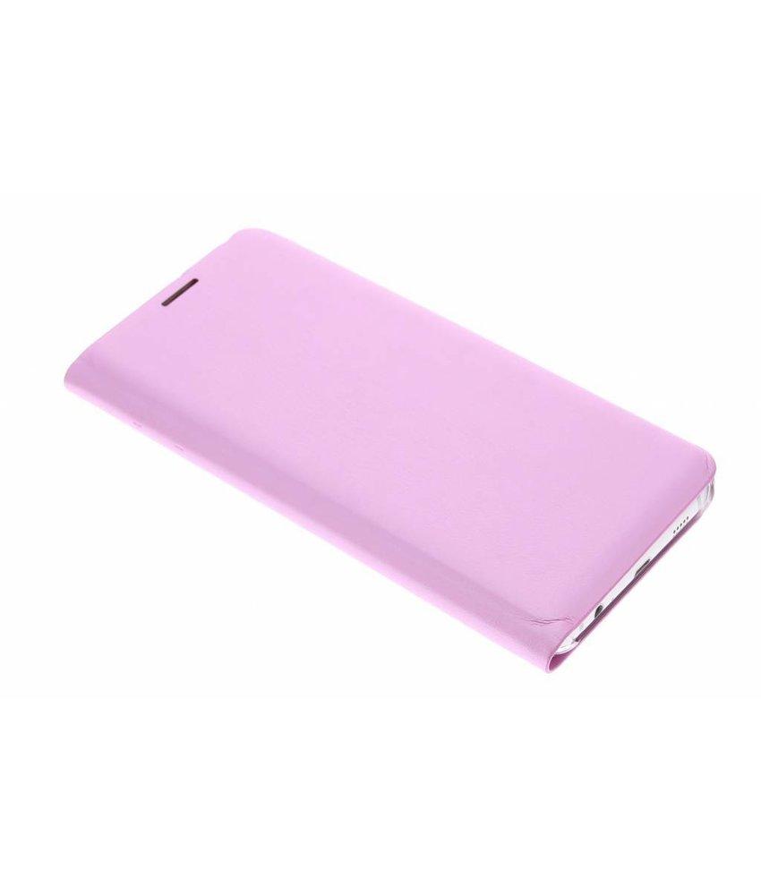Roze slim booktype hoes Samsung Galaxy S6 Edge Plus