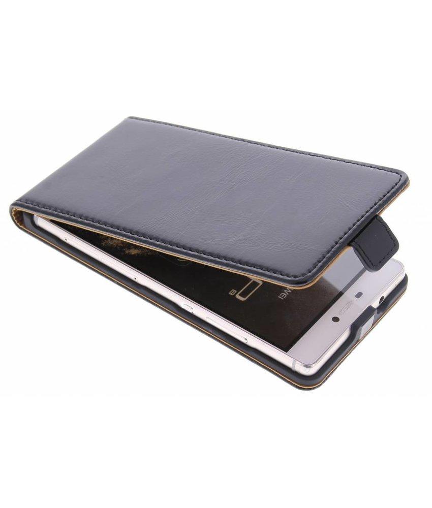 Selencia Luxe lederen Flipcase Huawei P8 - Zwart