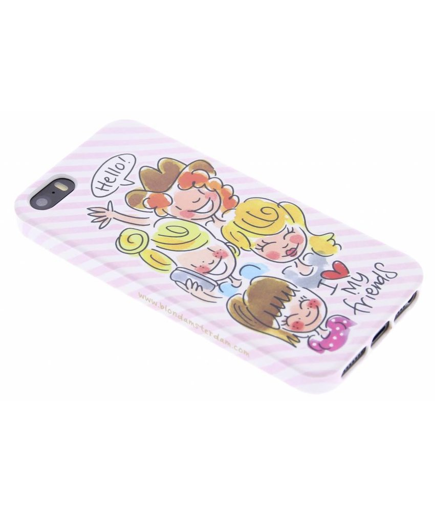 Blond Amsterdam I love my friends softcase iPhone 5 / 5s / SE