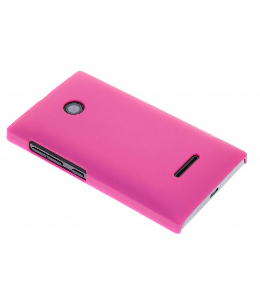 Fuchsia effen hardcase hoesje Microsoft Lumia 532
