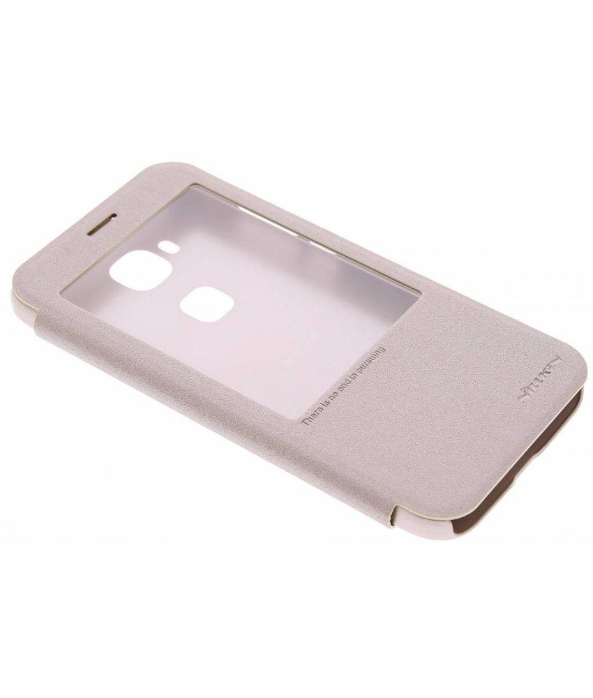 Nillkin Sparkle slim booktype hoes Huawei G8 - Goud