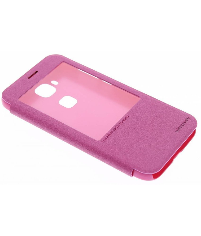 Nillkin Sparkle slim booktype hoes Huawei G8 - Fuchsia