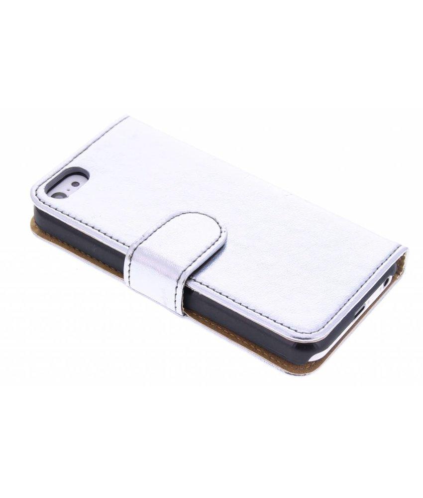 Metallic booktype hoes voor de iPhone 5c