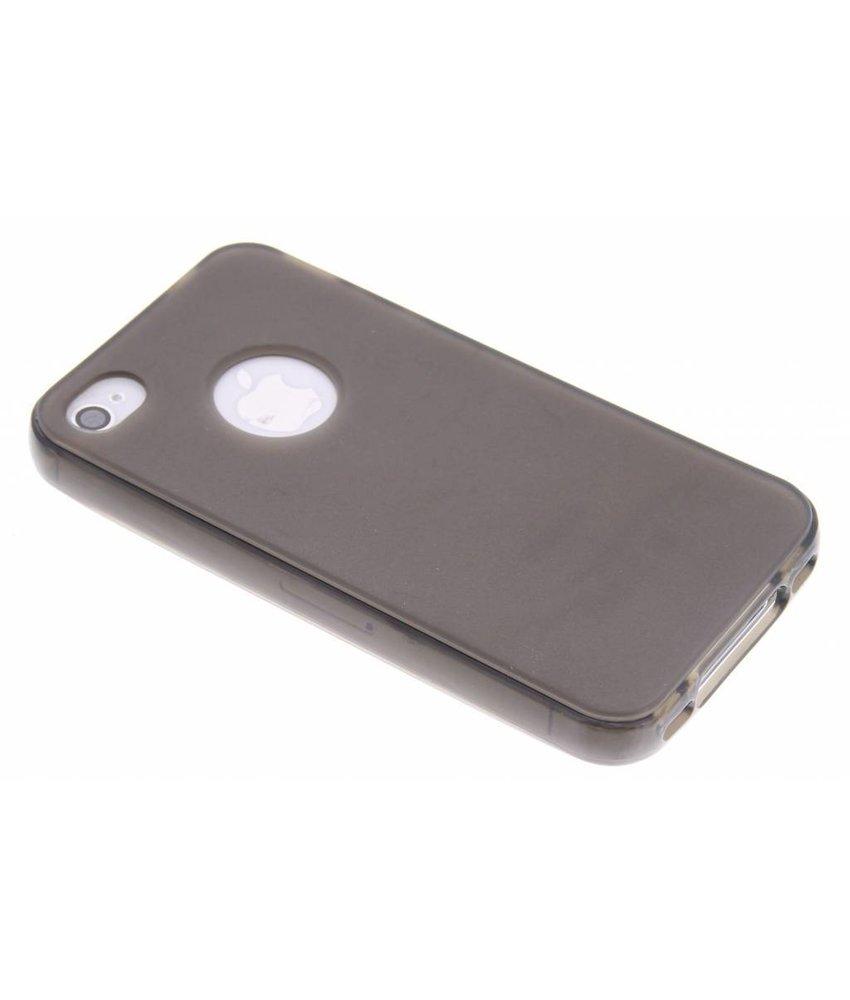 Grijs hard siliconen hoesje iPhone 4 / 4s