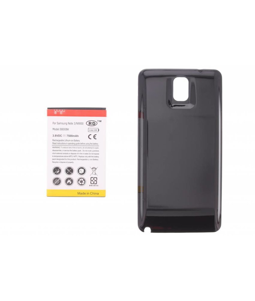 7500 mAh accu met backcover Galaxy Note 3