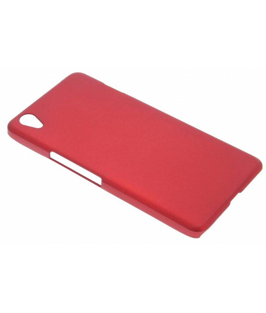 Rood effen hardcase hoesje OnePlus X