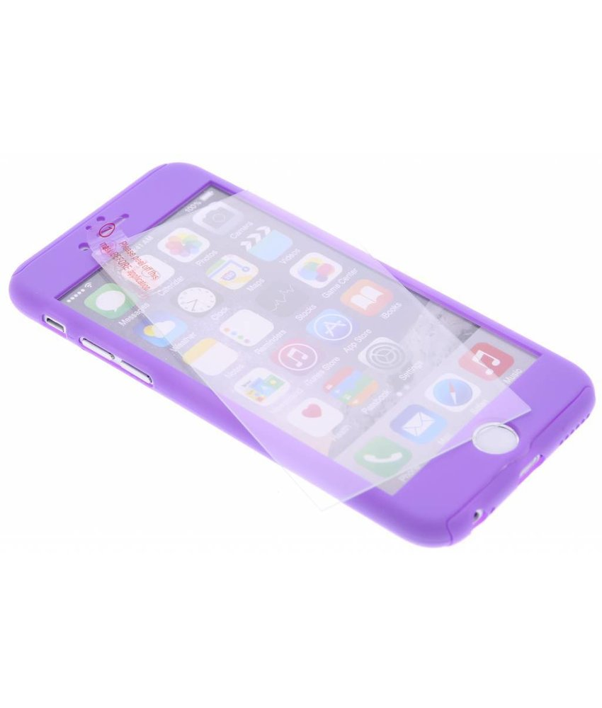 Paars 360° effen protect case iPhone 6(s) Plus