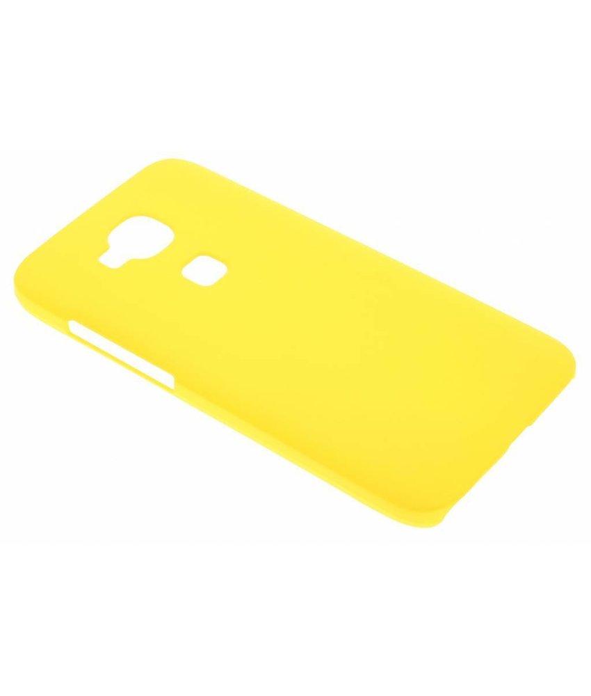 Geel effen hardcase hoesje Huawei G8