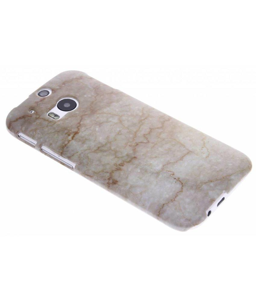 Beige marmer hardcase hoesje HTC One M9