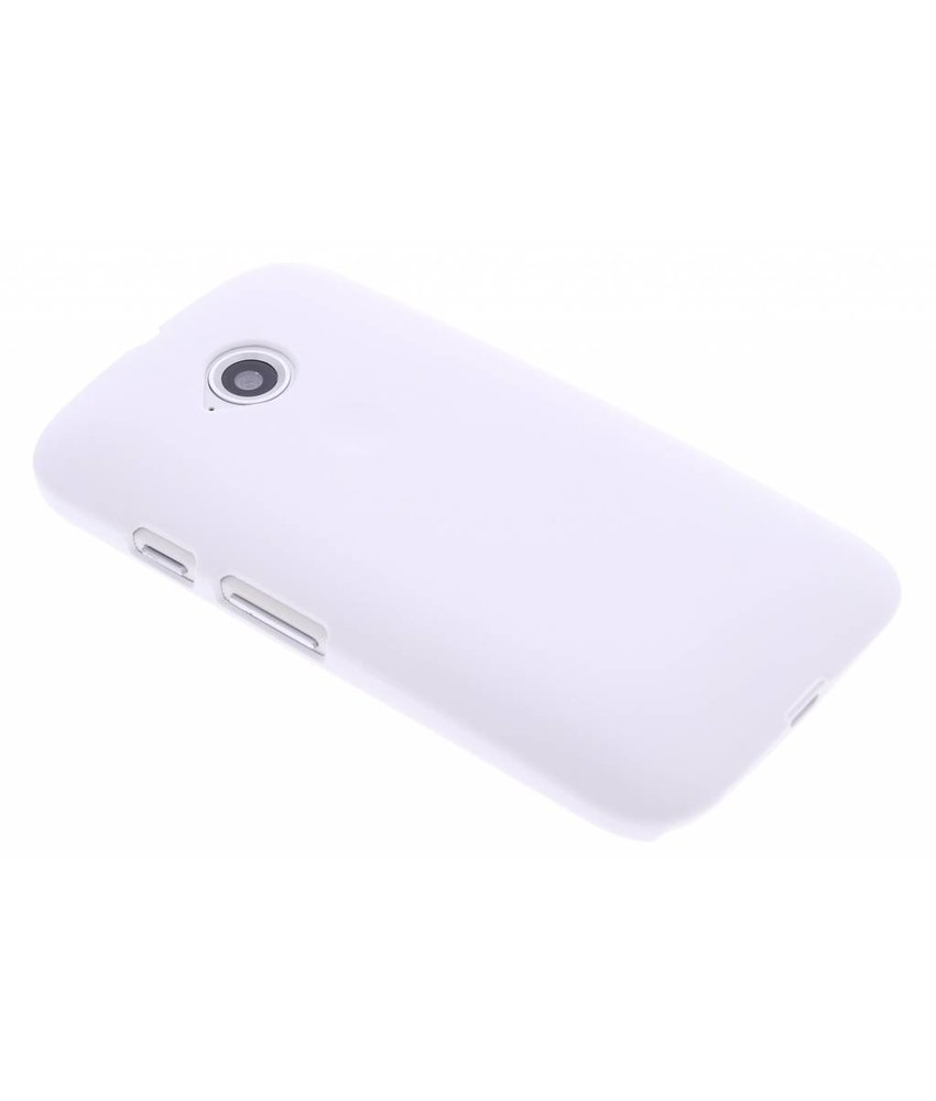Wit effen hardcase hoesje Motorola Moto E 2015