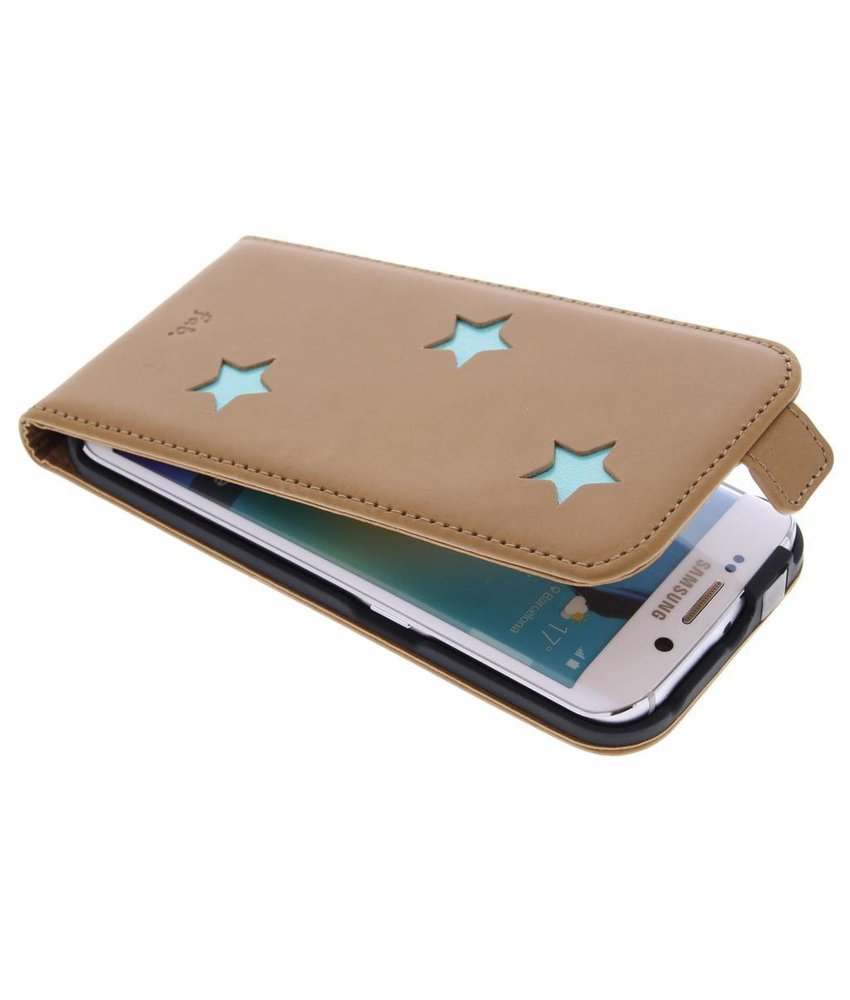 Fab. Aqua Reversed Star Flipcase Samsung Galaxy S6 Edge