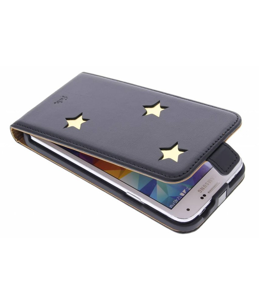 Fab. Gold Reversed Star Flipcase Galaxy S5 (Plus) / Neo