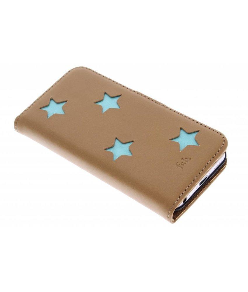 Fab. Aqua Reversed Star Booktype iPhone 5c
