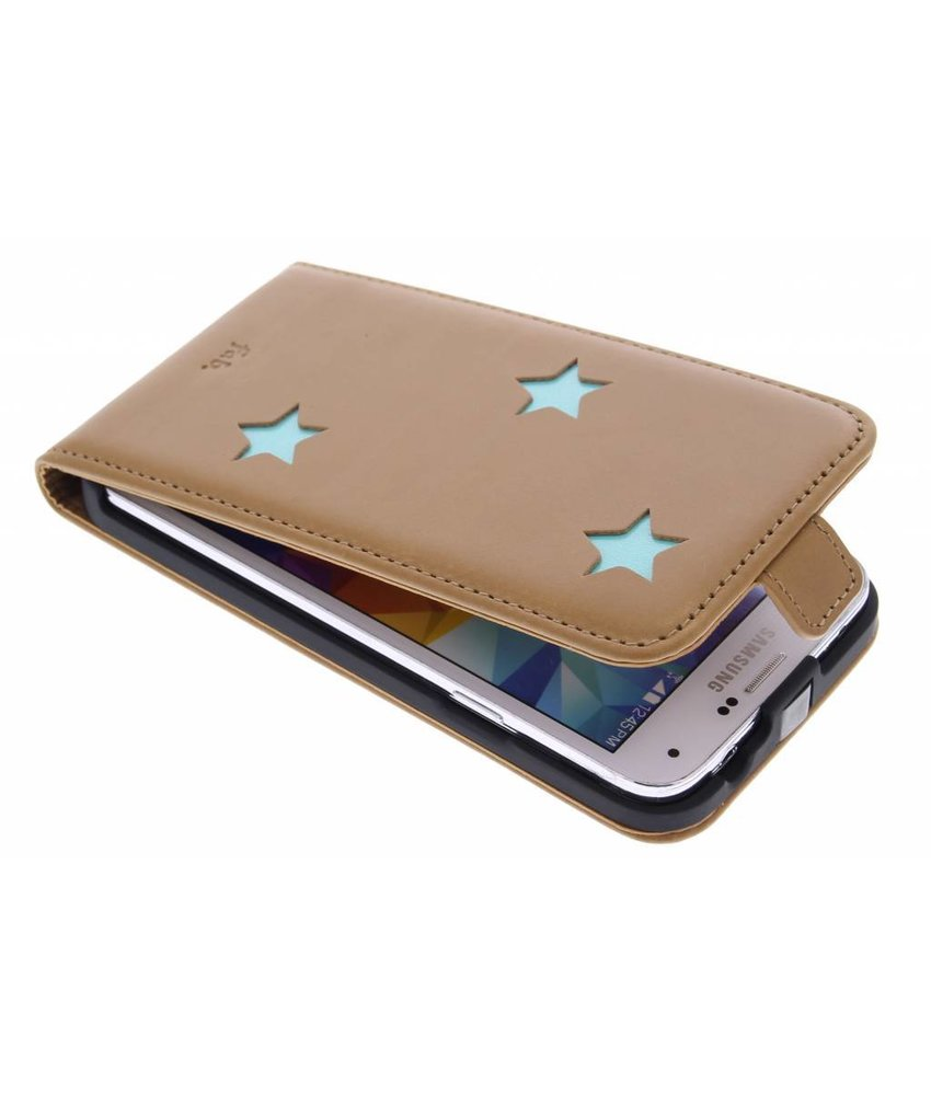Fab. Aqua Reversed Star Flipcase Galaxy S5 (Plus) / Neo