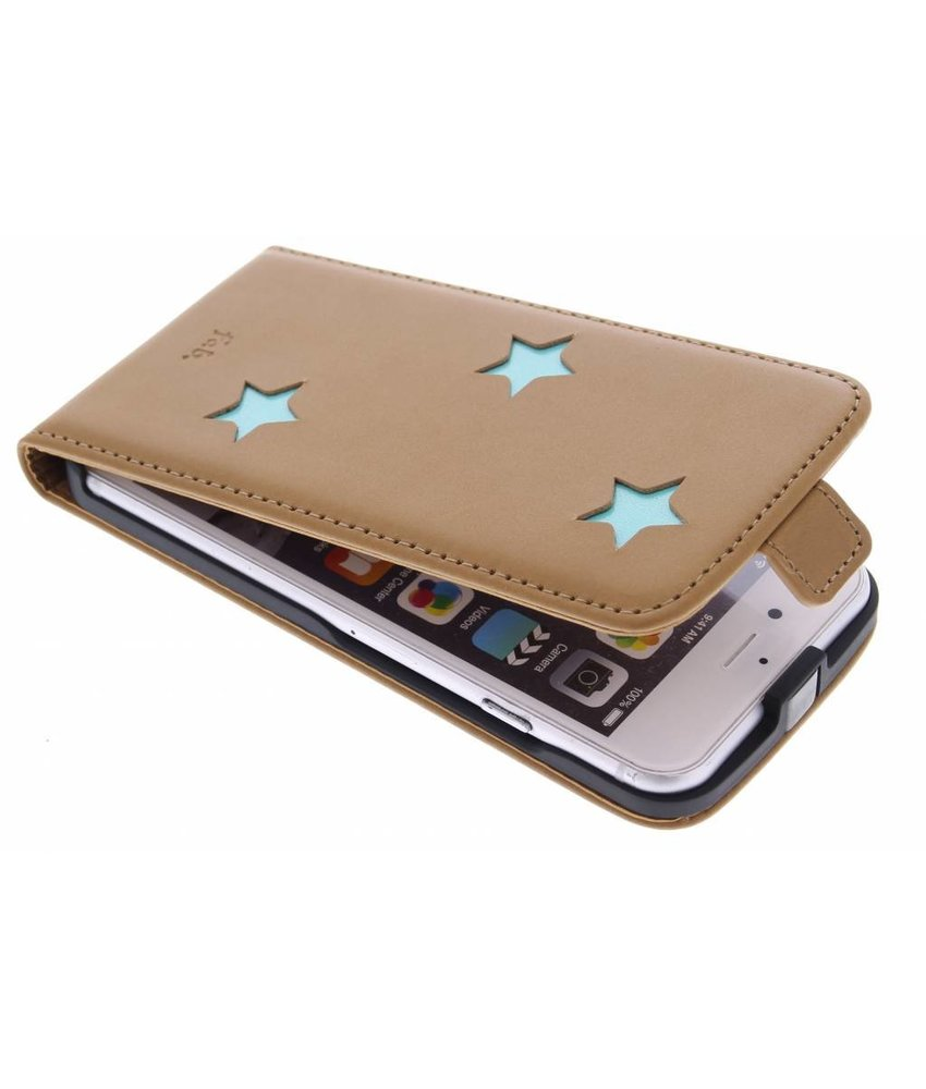 Fab. Aqua Reversed Star Flipcase iPhone 6 / 6s