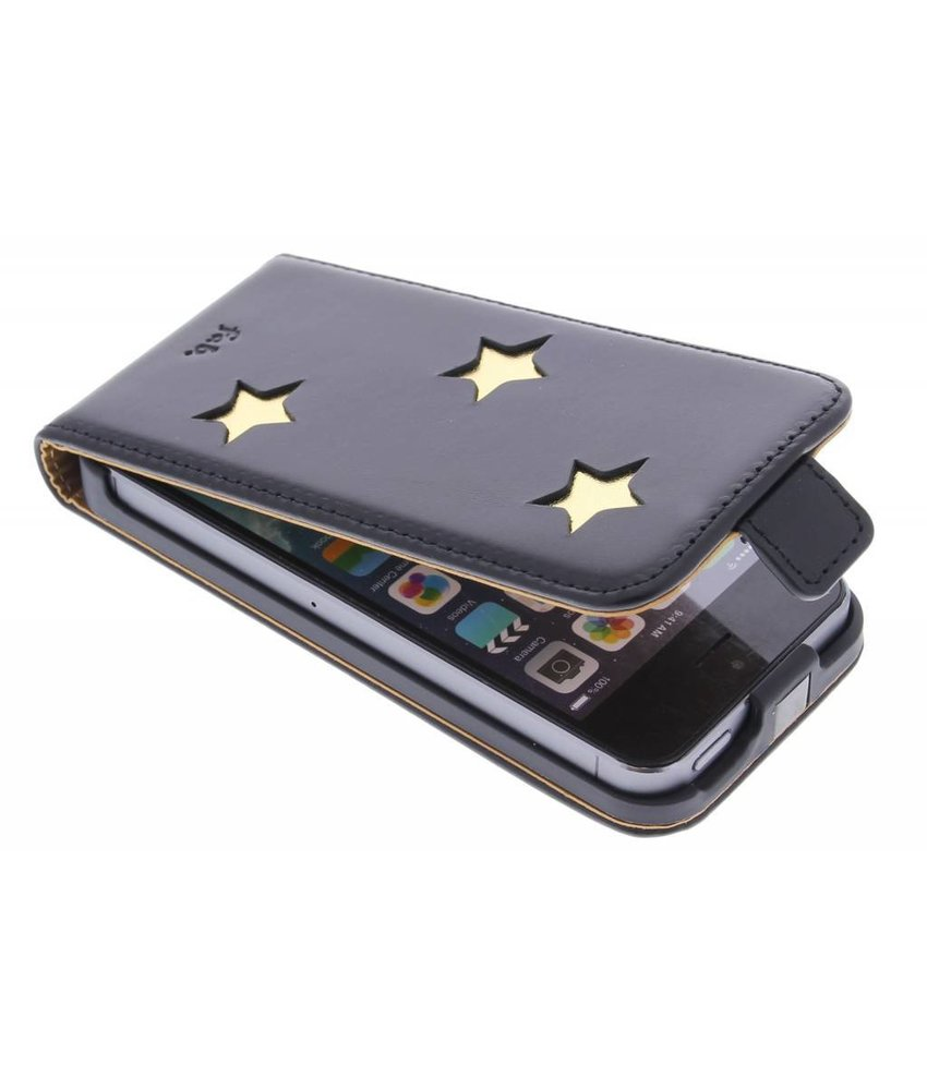 Fab. Gold Reversed Star Flipcase iPhone 5 / 5s / SE