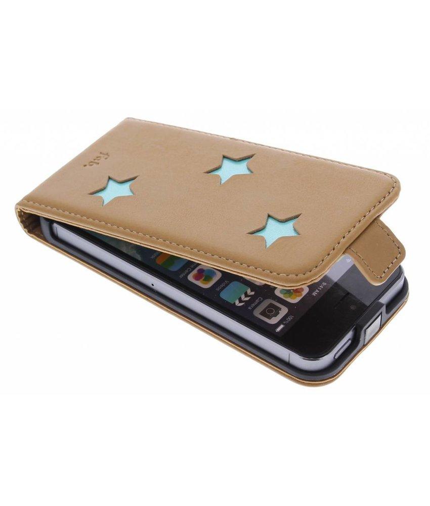 Fab. Aqua Reversed Star Flipcase iPhone 5 / 5s / SE