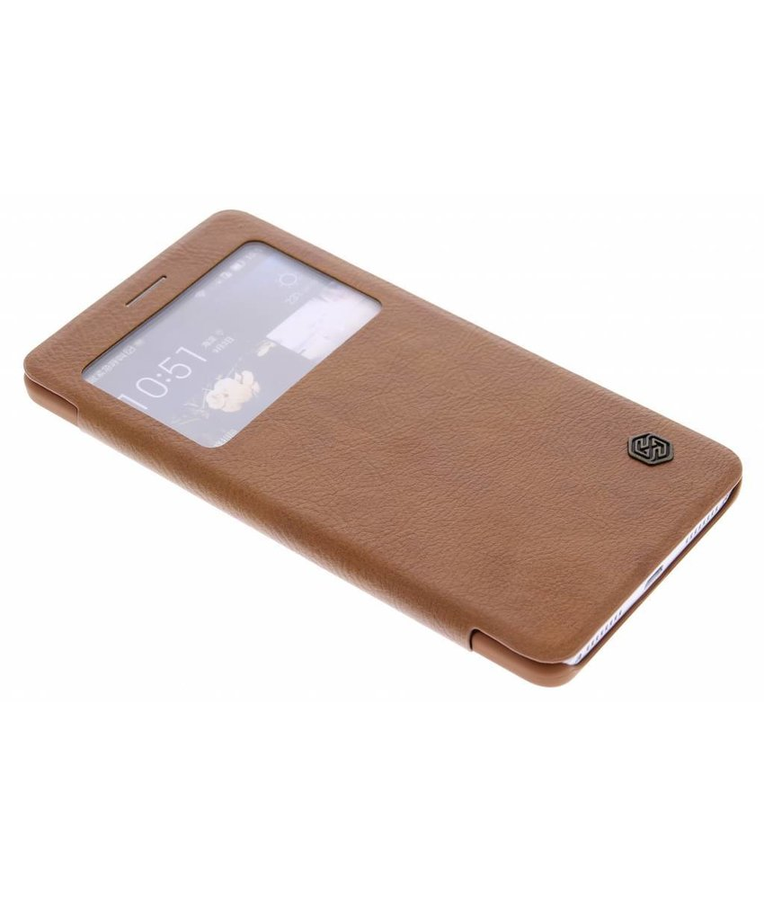 Nillkin Qin Leather slim booktype Huawei Mate S - Bruin