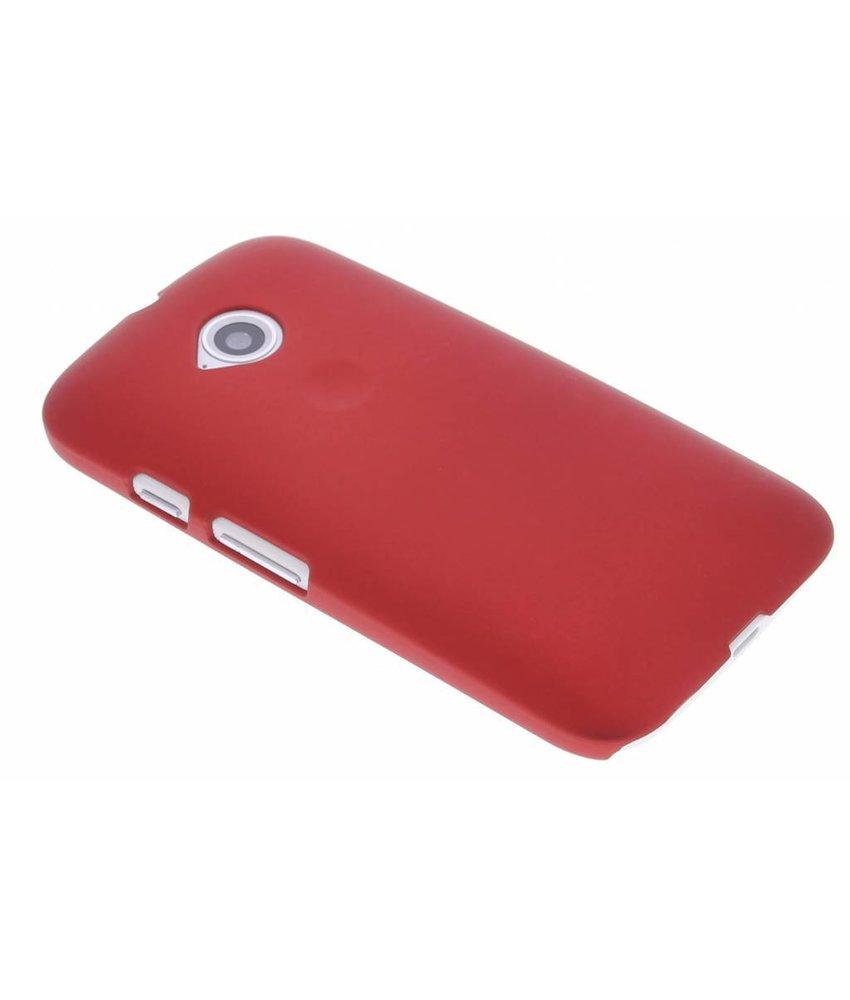 Rood effen hardcase hoesje Motorola Moto E 2015