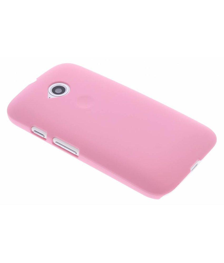 Roze effen hardcase hoesje Motorola Moto E 2015