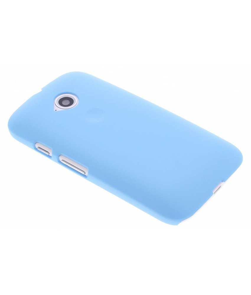 Turquoise effen hardcase hoesje Motorola Moto E 2015