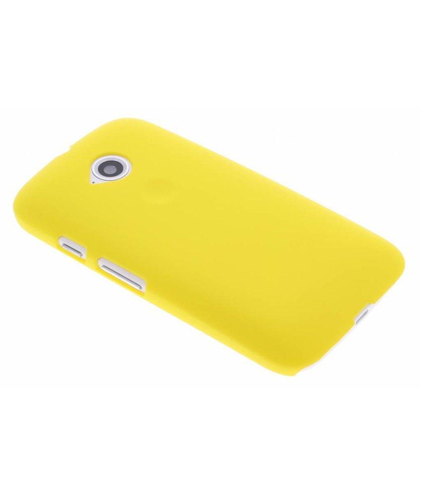 Geel effen hardcase hoesje Motorola Moto E 2015