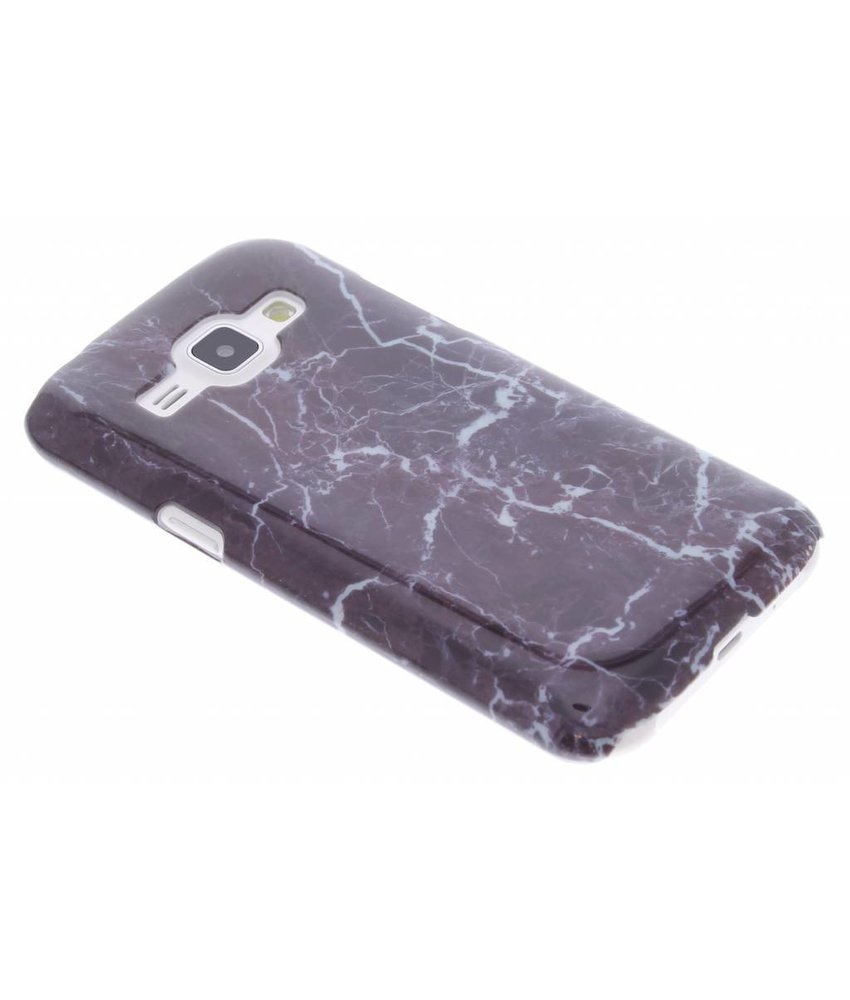 Donkerpaars marmer hardcase Samsung Galaxy J1