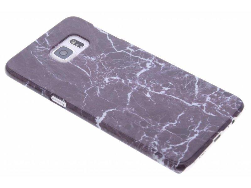 Foncé Marbre Violet Couverture Étui Rigide Pour Samsung Galaxy S Edgeplus n3YO4CJ