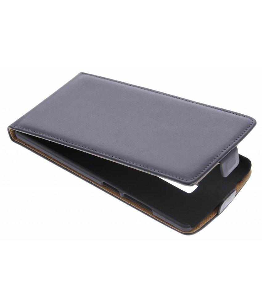 Zwart luxe flipcase OnePlus 2