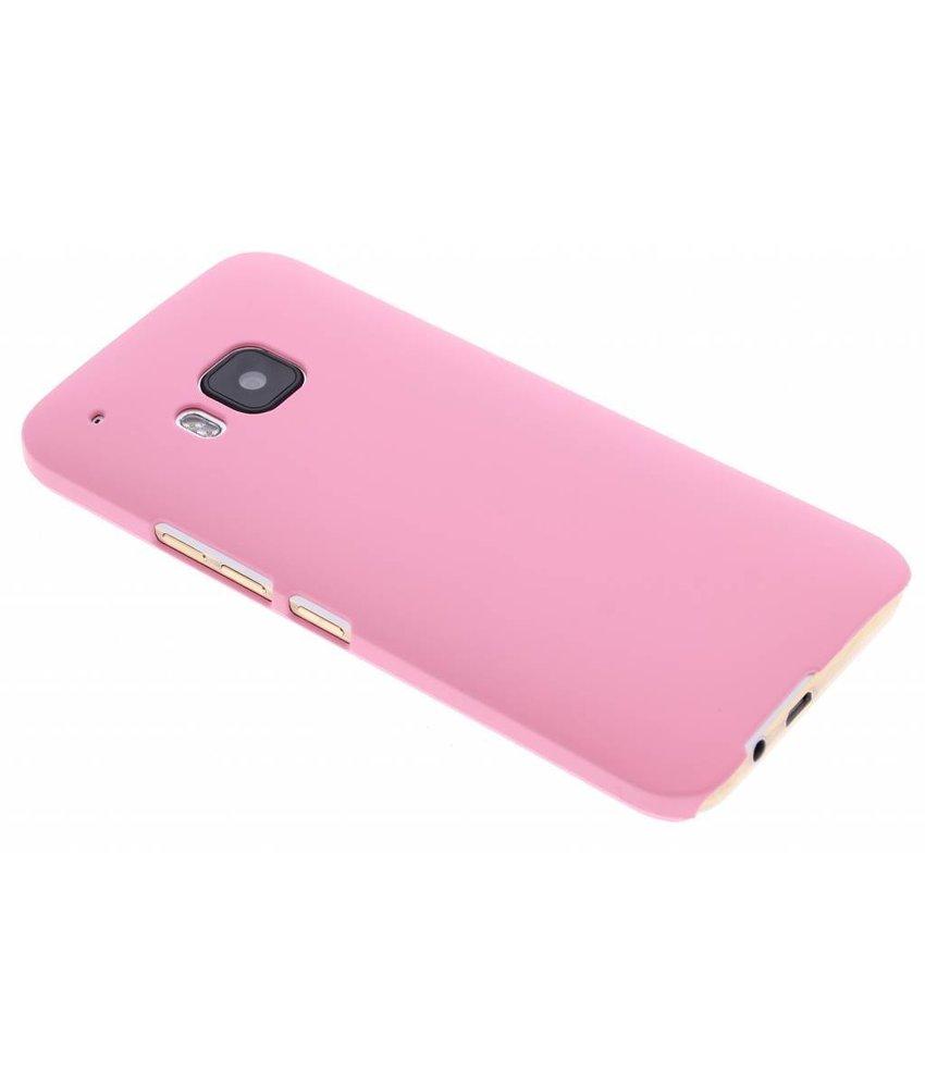 Roze effen hardcase hoesje HTC One M9