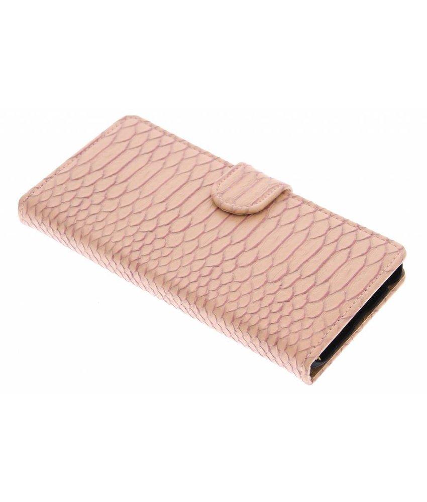 Roze slangen booktype hoes LG Nexus 5X